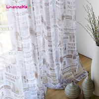 Nostalgic modern shalian brief window screening bedroom curtain yarn finished product