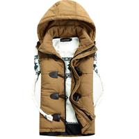 Hot sale free shipping men casual hooded vest cotton-padded waistcoat Couples sleeveless jacket