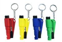 Freeshipping 3in1 Mini car safety hammer key chain rescue tool key chains life-saving hammer broken Windows escape tool key ring