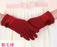 2014 Touch screen gloves lint warm autumn and winter women's fingers points that do not fall down the lovely ladies gloves
