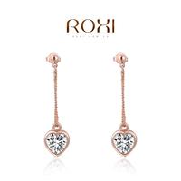 accessories Roxi jewelry earring austria crystal rose gold heart drop earring