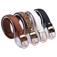 New 2014 Fashion Women Belt Brand Designer Hot Ladies Faux Leather Metal Buckle Straps Girls Fashion Accessories NPD54