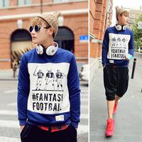 2014 tidal current male cartoon print sweatshirt men's clothing pullover sweatshirt a16-p55