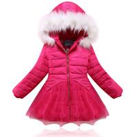 2014 child down coat girl child baby down coat children's clothing down coat winter little princess down coat