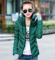 women's outerwear wadded jacket slim cotton-padded jacket female casual outerwear