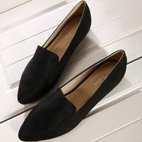 Elegance pointed toe flat  plus size 40 - 43 single  women's shoes slip on lady shoes  S14918-1