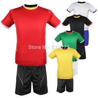 Football training suit Short sleeve soccer jerseys on plate soccer uniform custom printed jersey number