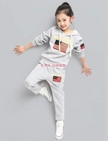 Male female child clothing spring and autumn child women's 2014 long-sleeve autumn sports set kids clothes
