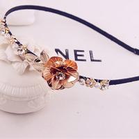 Free shipping!Fashion Vintage elegant  baroque hair accessory quality metal flower rhinestone hair bands headband female