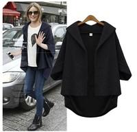 women autumn 2014 medium-long plus size clothing jacket outerwear fashion coat