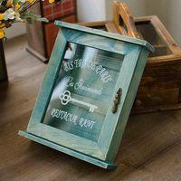 Solid Wood Nostalgic Wooden Key Box / Wall Deco / Wall Key Box / Key Holder.  Wall Hanging  Free Shipping