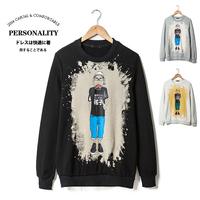 2014 autumn tidal current mens sport Hoodies cartoon pullover sweatshirt outerwear