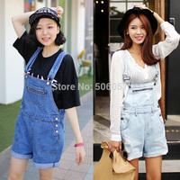 Free shipping 2015 Women's fashion leisure denim strap shorts Size S M L aqz