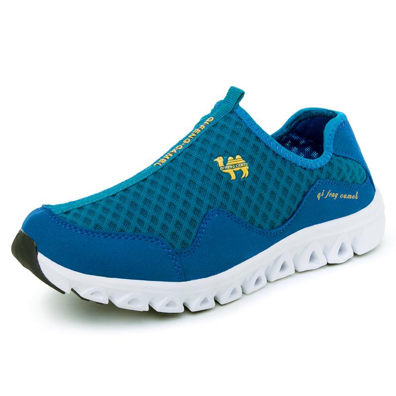 Homens de alta qualidade gaze sapatos casuais respirável tênis para caminhada sapatos leves(China (Mainland))
