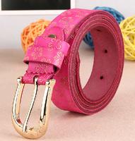 2014 women's Genuine Leather Belt fashion pin buckle cowhide type Emboss trend strap belt
