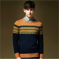 High Quality Luxury Knitted Sweaters For Men,2014 New Designer Men Winter Polo Sweaters Cashmere Pullovers Wool Knitwear For Men