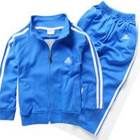 2014 child sports set spring and autumn child 100% cotton set male female child baby outerwear sportswear