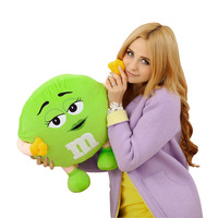 M&M Chocolate Candy Shape Polystyrene Microbead Pillows MM Pillows Yellow Brown Lovely Cute Cushion Kids Gift Free Shipping