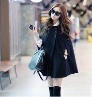 Autumn and winter women fashion noble elegant cloak outerwear wool coat female