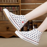 2014 lovers shoes autumn high canvas shoes female flat bottom autumn casual shoes skateboarding shoes