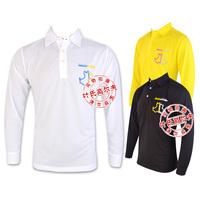 2014 new design golf clothes Men long-sleeve shirts autumn and winter golf shirts men comfortable quick-drying black&white shirt
