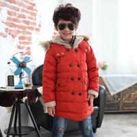 Child down coat male child medium-long 2014 new style boy  child down coat children outerwear