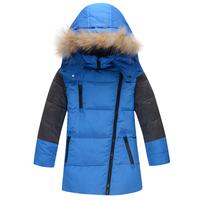 Boy Child down coat male child medium-long 2014 new style boy  child down coat child outerwear