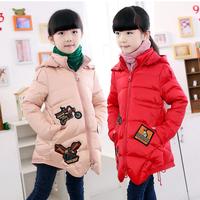 Girl children's clothing 2014 new style winter girl  down coat medium-long child down coat