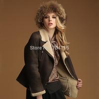 Thermal chamois fur  Women jacket female faux