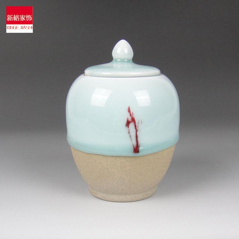 Cerâmica chá caddy decoração estilo chinês vasilha bancada pequena artesanato(China (Mainland))