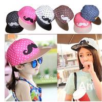 Baby girls boys caps children Beard Polka Dot hats kids fashion hiphop cap Parent-child baseball cap free shipping