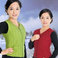 Quinquagenarian vest women's thin short design plus size cotton-padded jacket down clothing vest waistcoat spring and autumn