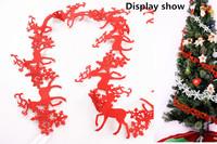Three-dimensional Christmas Deer Snowflake Surroundings Christmas Tree Long Bunch Decoration Felt Pendant