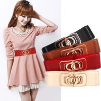 New Fashion Cummerbund Belt Pretty Elastic Waist Girdle Female Strap, Leather Belt Wide Belt Sash All-match Belts