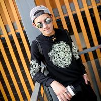 2014 chinese style autumn men sweatshirt print pullover sweatshirts for men