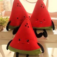 Cartoon watermelon plush pillow fruit cushion cushion plush toy doll  40*35cm
