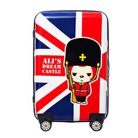 New Fashion British Style Classic Torx Flag Retro Suitcase Luggage ABS+PC Vintage luggage TSA aircraft wheel trolley luggage