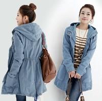 2014 autumn winter new women's clothing trench medium-long slim outerwear plus size slim waist  fashion women's trench overcoat