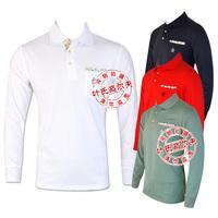 2014 New arrival Men's golf shirt autumn long-sleeve shirts Men elastic quick-drying high quality outdoor spot golf shirts