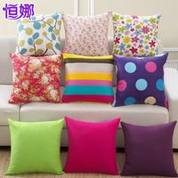 Pillow sofa cushion lumbar pillow ofhead car waist support pillow cover  40*40