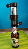 Stainless steel beer injection opener. wine beer bottle wine beer pegasus