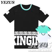 free shipping 2014   Star tyga last kings men's hiphop   short-sleeve tee t-shirt  drop  shipping