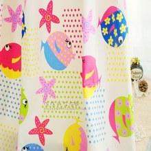 100% cotton twill cartoon  fabric Fish and Starfish    Child bedding sets 3pcs ,cushion cover ,sleepwear fabric(China (Mainland))