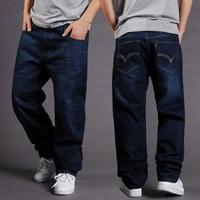 New winter men casual jeans fertilizer plus-size loose jeans trousers male hip-hop board shorts