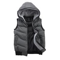 2014 Autumn Winter Men's Vest Casual Slim Thermal Outwear Brand Sport Waistcoat For Men Blue Green Black Plus Size High Quality