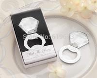 "2014 Wedding Decoration ""Shine, Sparkle & Pop!"" Ring Diamond Bottle Opener party supplies favor (120 pcs/lot) FREE SHIPPING"