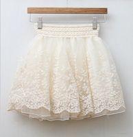2014 New Arrival Fashion Girls Ball Mini Skirt Women Sexy Lace Summer Autumn Skirt Ladies Hot Sale Short Skirt Beige Black