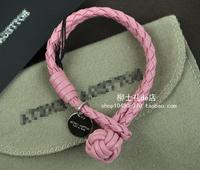 BV 2014 new arrival Genuine leather sheepskin handmade knitted hand-rope lovers hand  bracelet