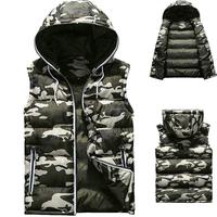 New arrival camouflage men's vest casual slim plus size waistcoat for men M--5XL