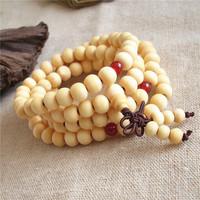 (Minimum order 5 USD!) T10 Natural Wood Sandaled 108 Beads Bracelet  Japamalas 8mm